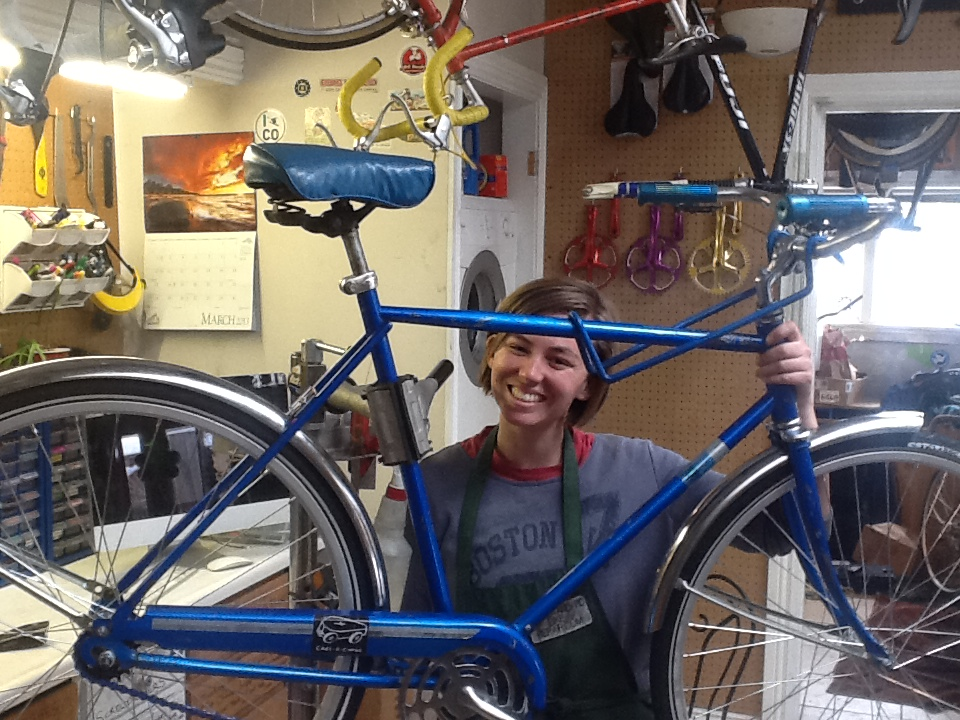 Blue Schwinn Refurbished by Student